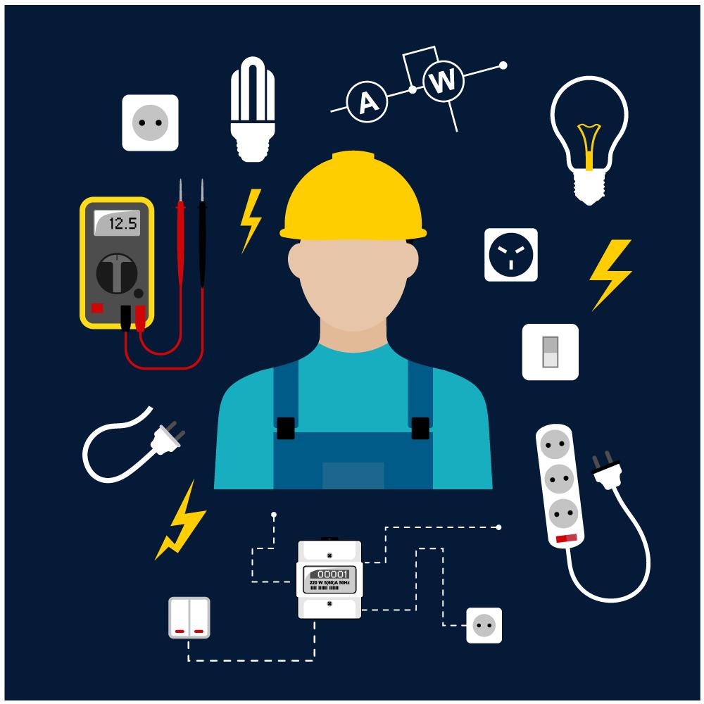Image Électricien recruter un électricien d'équipement en alternance - fiche métier